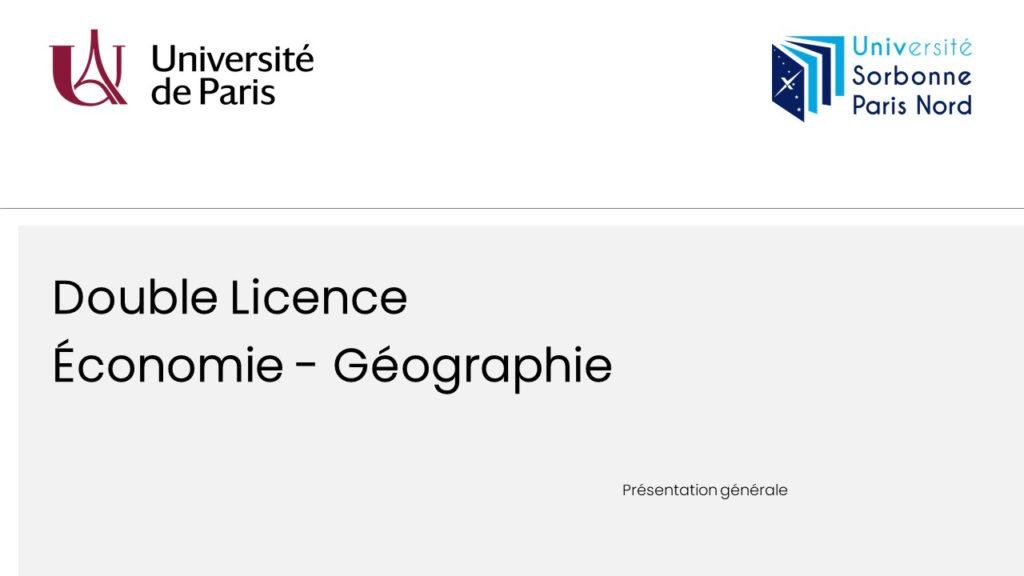 Présentation - Double Licence Economie-Géographie